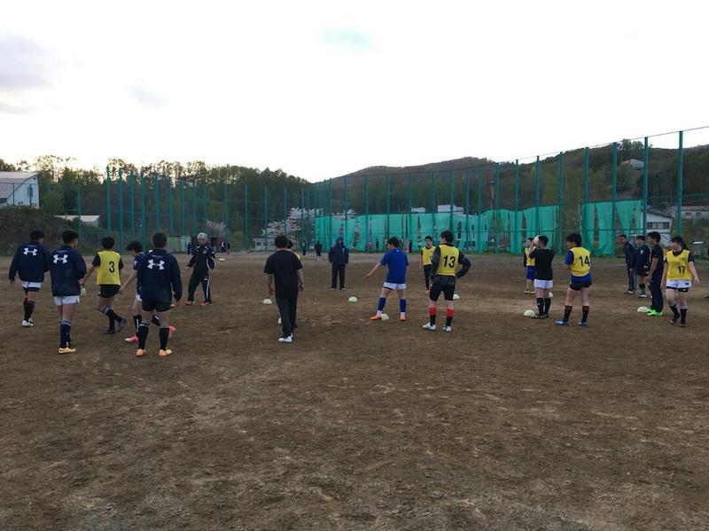 小樽潮陵高校ラグビー部 桜陽高校と合同練習