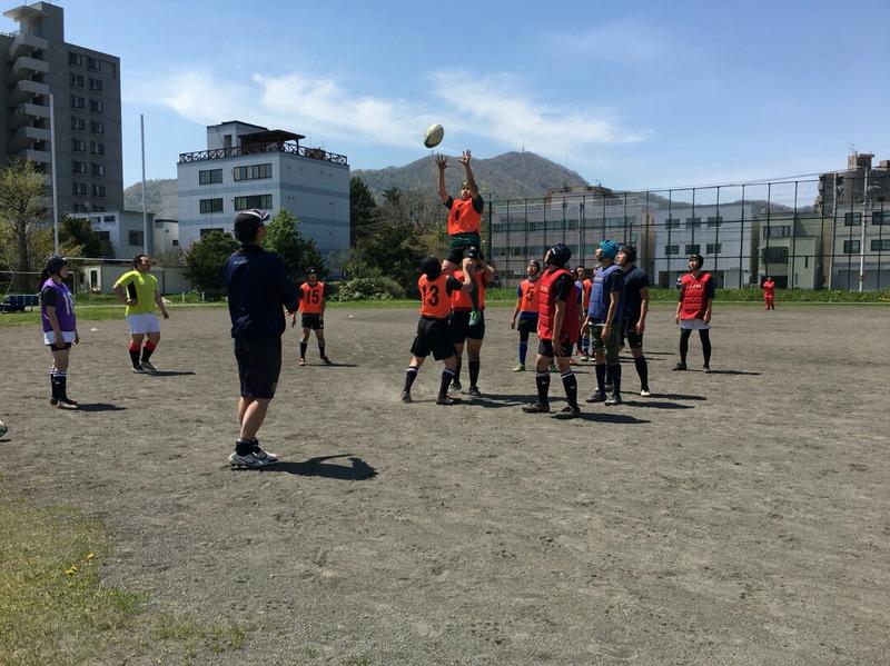 小樽潮陵高校ラグビー部 札南合同練習