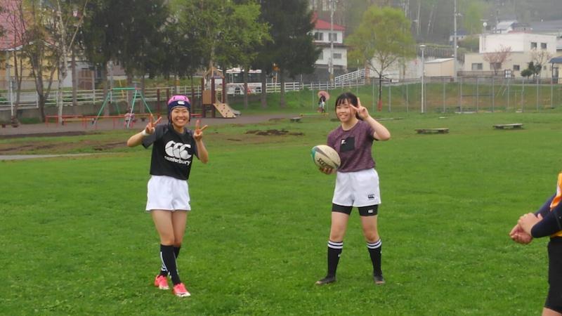 小樽潮陵高校ラグビー部 女子だけでの練習