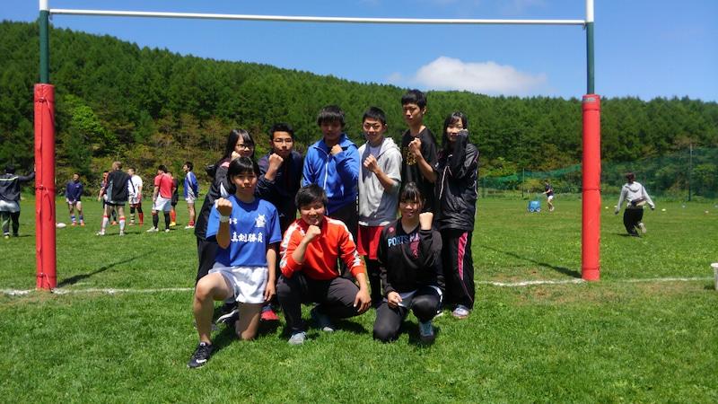 小樽潮陵高校ラグビー部 北海道高校ラグビーの選手名鑑用に集合写真