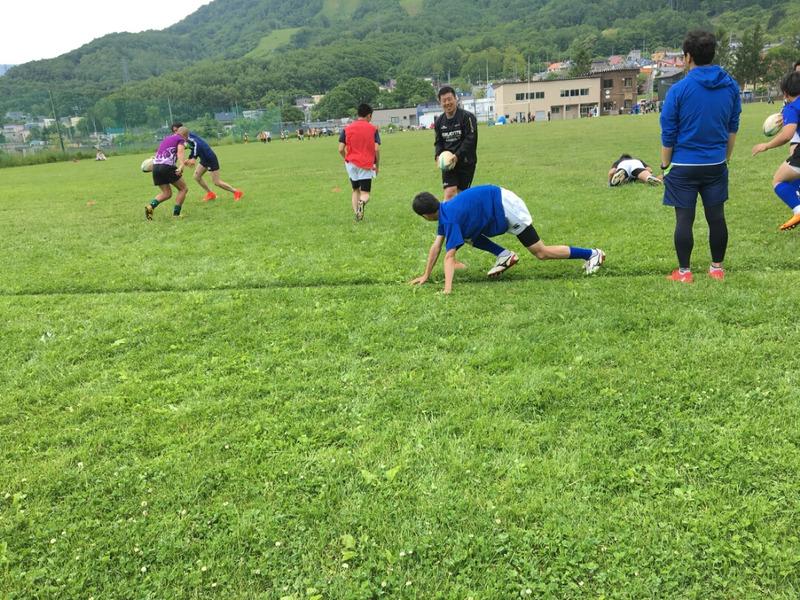 小樽潮陵高校ラグビー部 社会人と合同練習