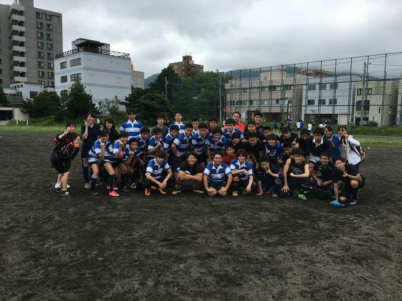 小樽潮陵高校ラグビー部 札幌南と合同練習