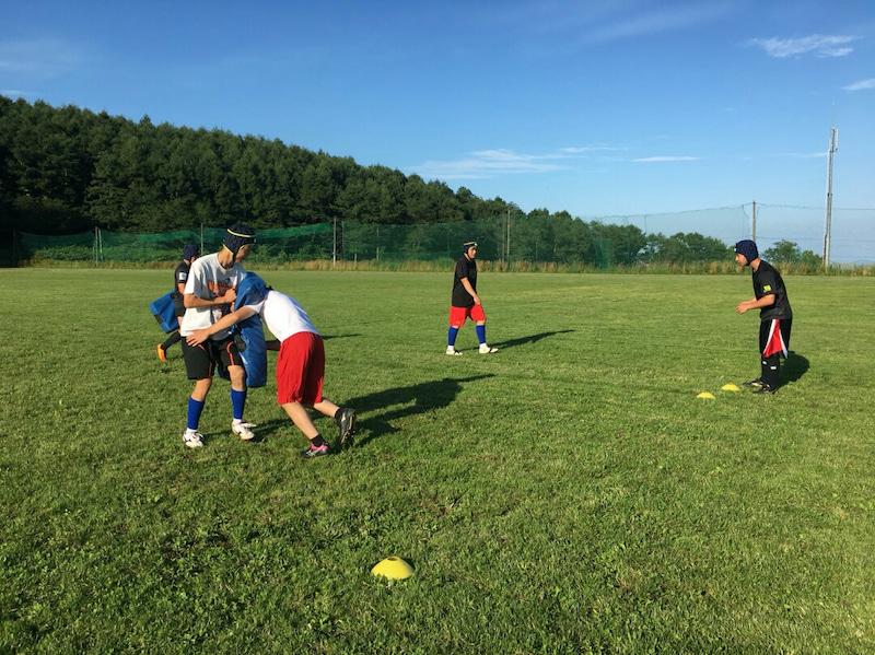 小樽潮陵高校ラグビー部 からまつ公園練習
