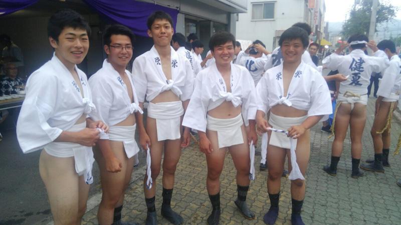 小樽潮陵高校ラグビー部 芦別山笠祭り