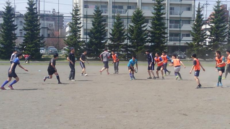 小樽潮陵高校ラグビー部 札幌南高校と合同練習ブログページへ