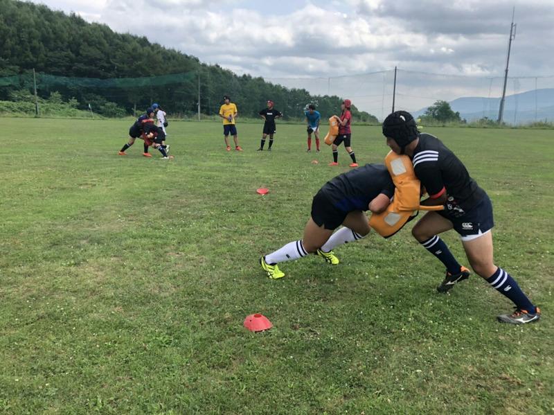 小樽潮陵高校ラグビー部 からまつグラウンド、二部練習
