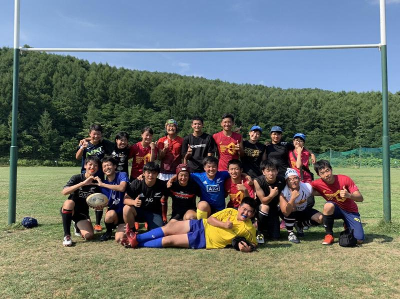小樽潮陵高校ラグビー部 からまつグラウンド 二部練習2日目